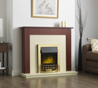 Robinson Willey Calgary Electric Fire Suite Mahogany