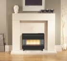 Image for Robinson Willey Firegem Visa Black / Chrome 4.9kW Gas Fire - A85048