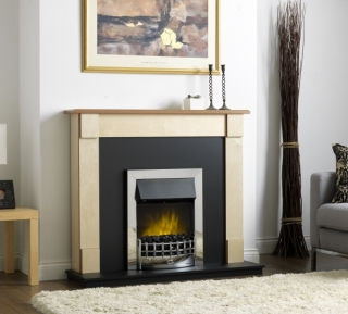 """Robinson Willey Rochester 21"""" Electric Fire Suite Maple"""