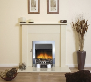 Robinson Willey Rochford Electric Fire Suite Cream