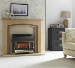 Robinson Willey Sahara LFE Pewter Gas Fire