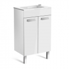 Image for Roca Debba Compact 500mm 2 Door Basin Unit With Basin Gloss White - 855900806