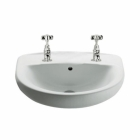Image for Roca Laura 520mm 2 Tap Hole Basin - 328398000