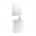 Image for Roca Mini 450mm Basin Unit With Basin and Mirror Gloss White - 855865806