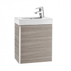Image for Roca Mini 450mm Basin Unit With Basin Textured Grey - 855873156