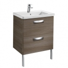 Image for Roca The Gap Unik 600mm Basin Unit & Basin Dark Textured Wood - 855997150