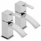 Sagittarius Arke - Basin Tap - Deck Mounted Pillar (Pair) - Chrome - AR/101/C