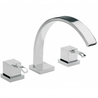 Sagittarius Arke - Bath Tap - Deck Mounted 3 Hole Bath Filler - Chrome - AR/111/C
