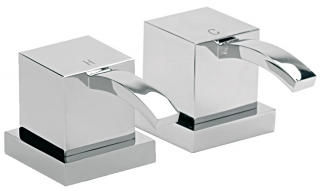 Arke Half Inch Deck Mounted Side Valves - Hot and Cold