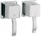 "Sagittarius Arke 1/2"" Wall Mounted Side Valves (Pair) - Chrome AR195C"
