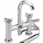 Sagittarius Avant - Bath Taps - Deck Mounted Bath Shower Mixer (With No1 Kit) - Chrome - AV/405/C