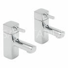 Sagittarius Axis - Basin Tap - Deck Mounted Pillar (Pair) - Chrome - AX/101/C