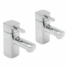 Sagittarius Axis - Bath Tap - Deck Mounted Pillar (Pair) - Chrome - AX/102/C