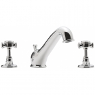 Image for Sagittarius Churchmans - Basin Tap - Deck Mounted 3 Hole Mixer (With Pop Up Waste) - Chrome - CH107C