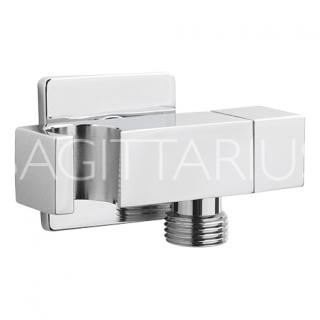 Sagittarius Deluxe Cube Isolating Valve With Handset Holder - Chrome SH/395/C