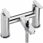 Sagittarius Eclipse - Bath Tap - Deck Mounted Bath Shower Mixer (With Handset, Hose and Wall Bracket) - EC/305/C