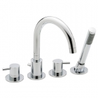 Sagittarius Ergo - Bath Tap - Deck Mounted 4 Hole Bath Filler (With Bath Mounted Shower Handset) - Chrome - EL/114/C