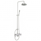 Sagittarius Ergo Exposed Thermostatic Shower Valve with Rigid Riser Rail, Handset and Rainshower - Chrome EL/248/C