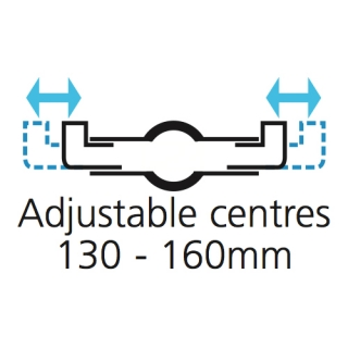 Adjustable Centres - 130mm - 160mm