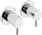 "Sagittarius Ergo Wall Mounted Side Valves (Pair) 1/2"" - Chrome EL195C"