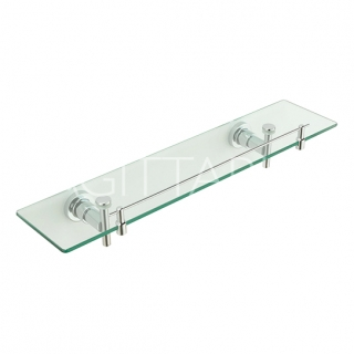 Sagittarius Florence Glass Shelf - Chrome AC/655/C