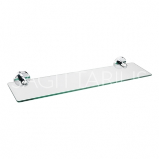 Sagittarius Geneve Glass Shelf - Chrome AC/267/C