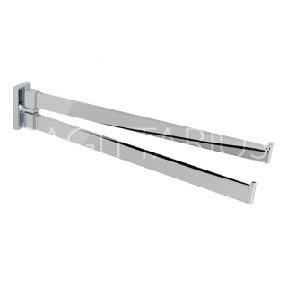 Sagittarius Madison Hinged Double Towel Rail - Chrome AC/256/C