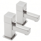 Sagittarius Matisse - Basin Tap - Deck Mounted Pillar (Pair) - Chrome - MA/101/C