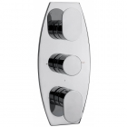 Image for Sagittarius Metro Concealed Thermostatic Shower Mixer Valve with 3 Way Diverter - Chrome MT277C