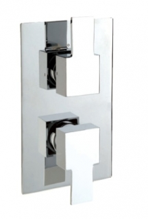 Sagittarius Navona Concealed Thermostatic Shower Mixer Valve - Chrome (NV/172/C)