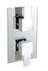 Sagittarius Navona Concealed Thermostatic Shower Mixer Valve with 2 Way Diverter - Chrome (NV/177/C)
