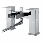 Sagittarius Nice - Bath Tap - Deck Mounted Bath Shower Mixer & Kit - Chrome - NI/105/C