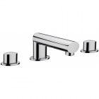 Sagittarius Oveta - Bath Tap - Deck Mounted 3 Hole Bath Filler - Chrome - OV/111/C