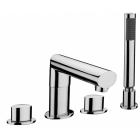 Sagittarius Oveta - Bath Tap - Deck Mounted 4 Hole Mixer (With Shower Head) - Chrome - OV/114/C
