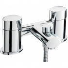Sagittarius Oveta - Bath Tap - Deck Mounted Bath Shower Mixer (With No1 Kit) - Chrome - OV/105/C