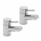 Sagittarius Piazza - Basin Tap - Deck Mounted Pillar (Pair) - Chrome - PI/101/C