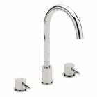 Sagittarius Piazza - Bath Tap - Deck Mounted 3 Hole Bath Filler - Chrome - PI/111/C