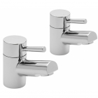 Sagittarius Piazza - Bath Tap - Deck Mounted Pillar (Pair) - Chrome - PI/102/C