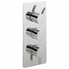 Sagittarius Piazza Modern Concealed Thermostatic Shower Valve with 3 Way Diverter - Chrome PI277C