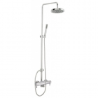 Sagittarius Piazza Modern Exposed Thermostatic Shower Valve with Rigid Riser & Handset - Chrome PI248C