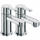 Image for Sagittarius Plaza - Bath Tap - Deck Mounted Pillar (Pair) - Chrome - PL/102/C