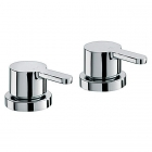 "Sagittarius Plaza - Deck Mounted Side Valves 3/4"" (Pair) - Chrome - PL187C"
