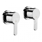 "Sagittarius Plaza - Wall Mounted Side Valves 1/2"" (Pair) - Chrome - PL/195/C"