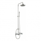 Image for Sagittarius Plaza Exposed Thermostatic Shower Valve with Rigid Riser Rail, Handset and Rainshower Head - Chrome PL248C