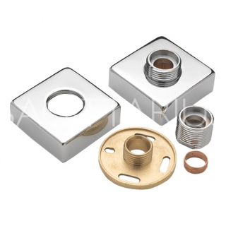 Sagittarius Pr Square Easy Fit Bar Valve Wall Plates - Chrome SH/189/C