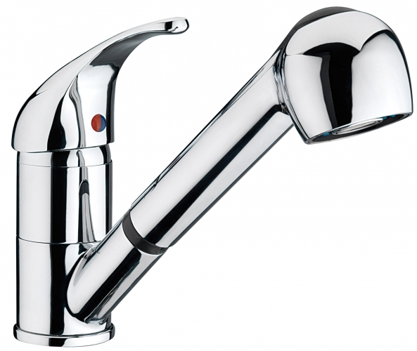 sagittarius prestige pull out spray tap monobloc kitchen sink mixer pr151c - Kitchen Sink Mixer Taps