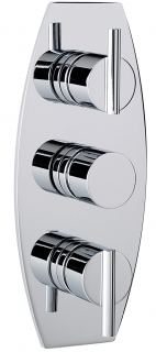 Pure Thermostatic Shower Valve with Three Way Diverter