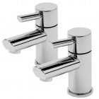 Sagittarius Rocco - Bath Tap - Deck Mounted Pillar (Pair) - Chrome - RO/102/C