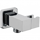 Image for Sagittarius Shower Wall Bracket Cube with Outlet - Chrome SH394C