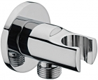 Image for Sagittarius Shower Wall Bracket with Outlet - Chrome SH393C
